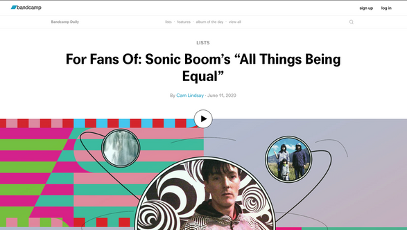 "Bandcamp: For Fans Of: Sonic Boom's ""All Things Being Equal"""