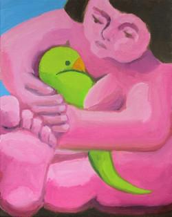 Lady with a Bird