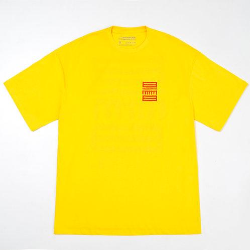 Camiseta ZMBNGUO 2 Mundos Amarela Unissex