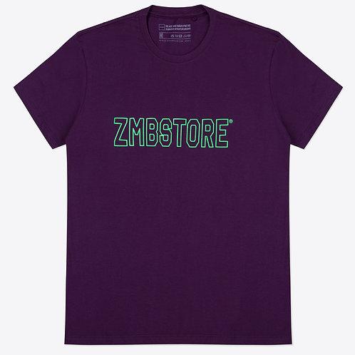 Camiseta ZMBNGUO Logo Roxa Unissex