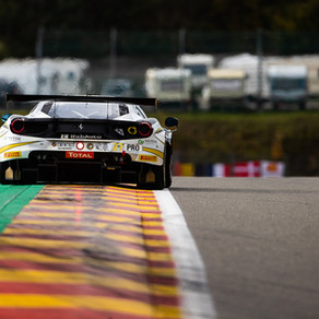 Blomqvist battles through the field at Spa-Francorchamps