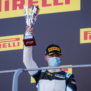 Hughes closes successful season with podium finish at Mugello