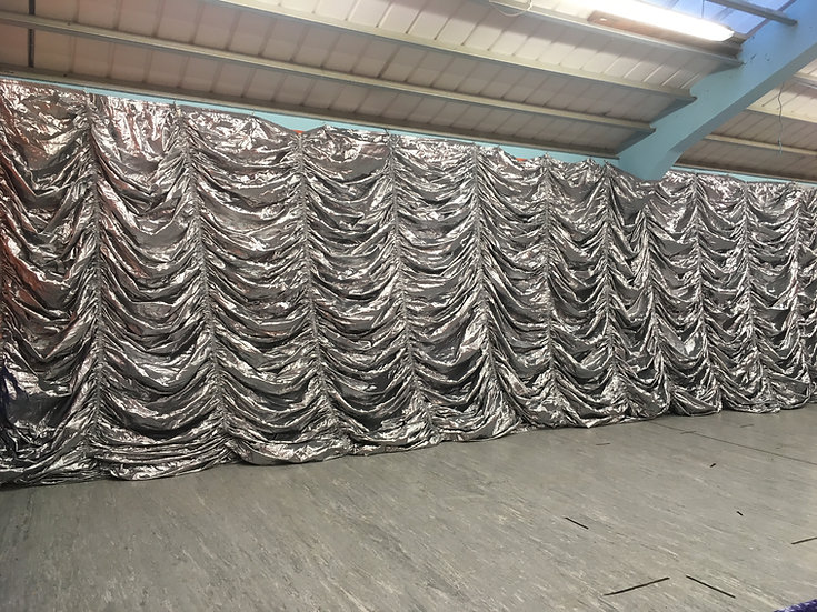 Silver Rushed Curtain
