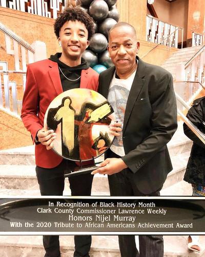 Nijel Klothes 4 Kids Black History Award