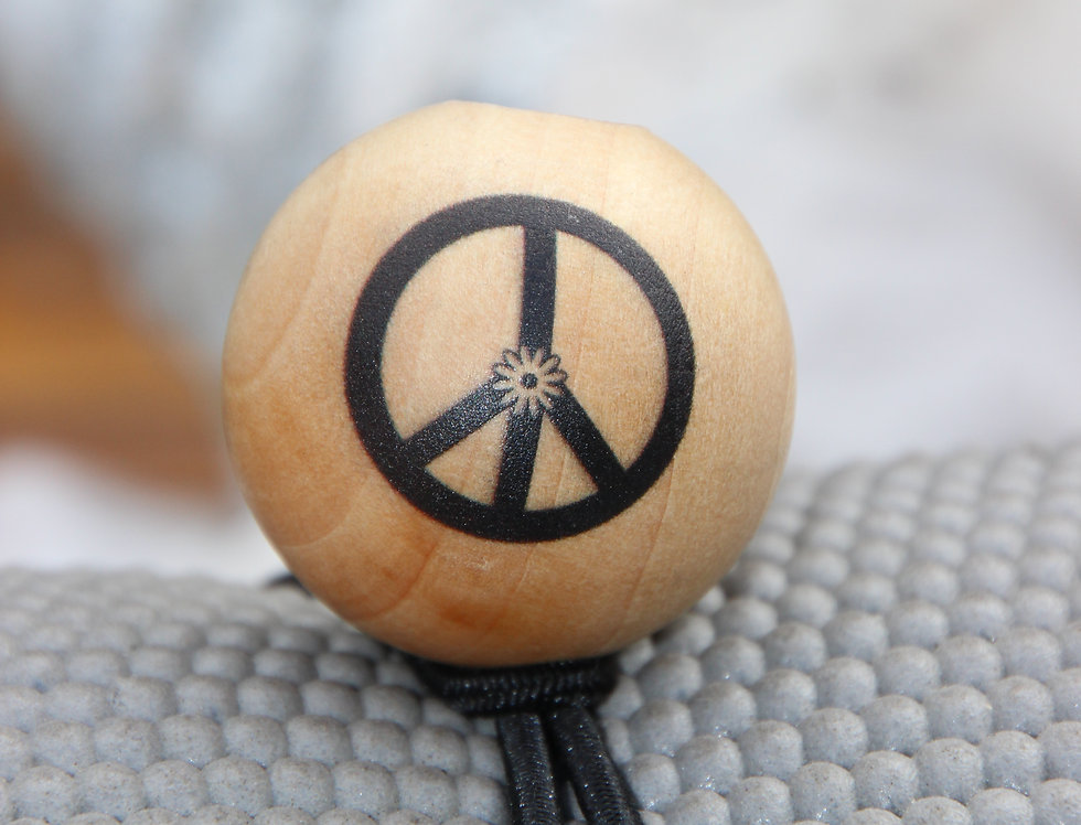 PEACE - Black Bungee   Natural Stain   Black Logo