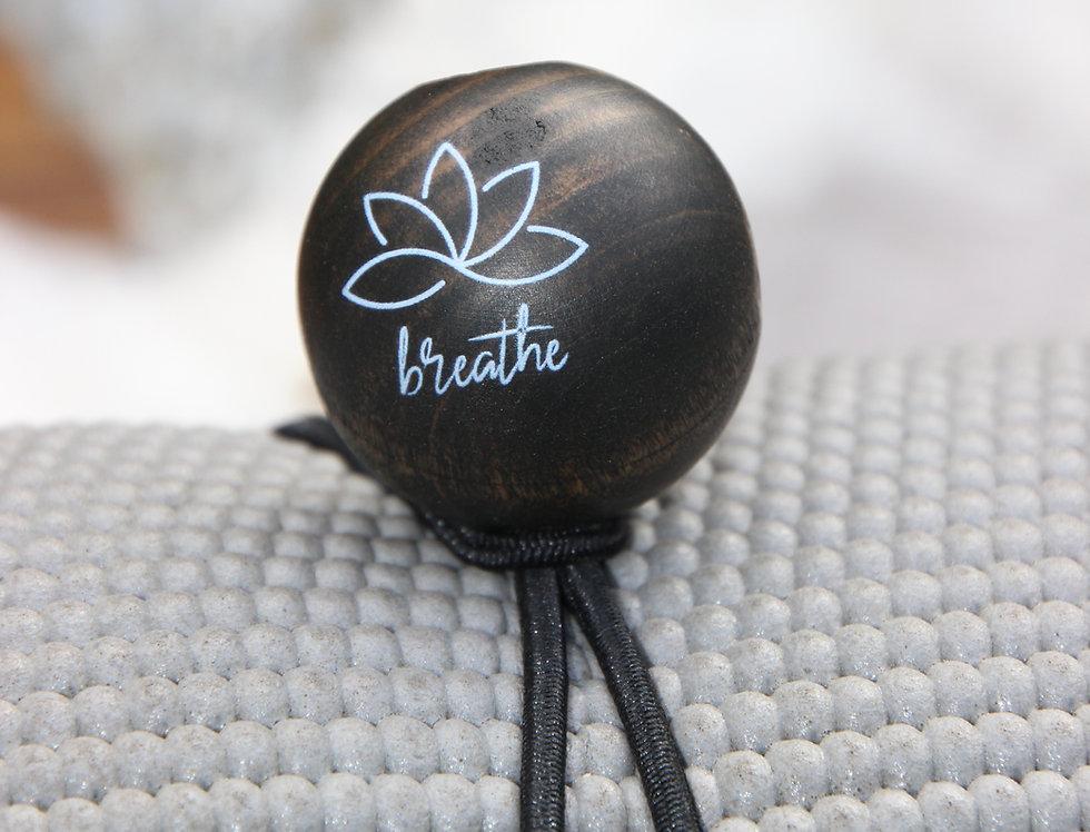 BREATHE - Black Bungee | Dark Stain | White Logo