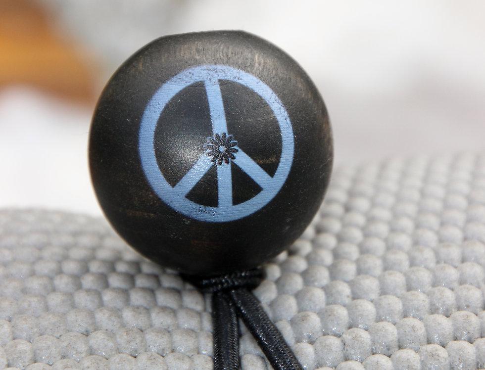 PEACE - Black Bungee | Dark Stain | White Logo