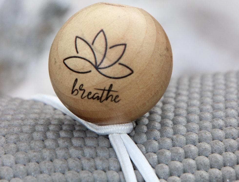 BREATHE - White Bungee | Natural Stain | Black Logo