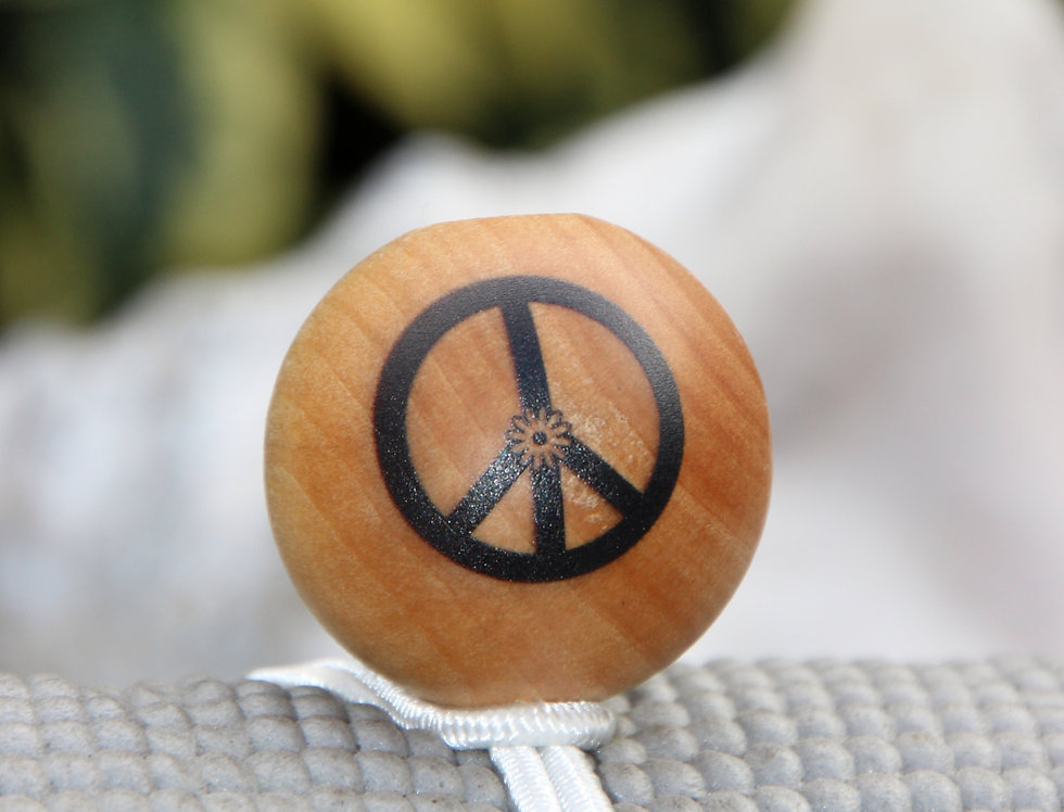 PEACE - White Bungee | Natural Stain | Black Logo