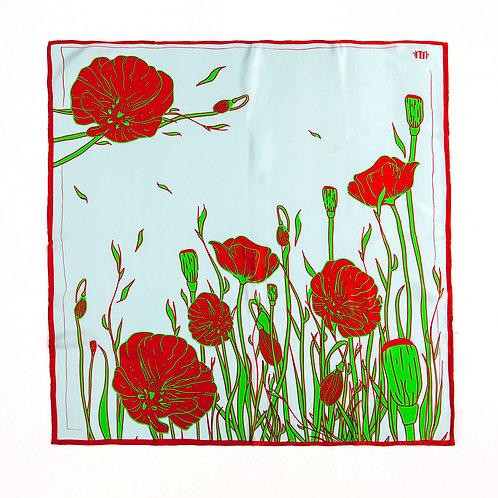 Poppy flowers / 70 cm