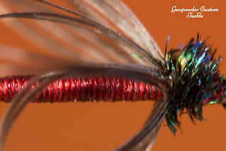 dark spanish needle, north country spider, soft hackle, eric way, gunpowder custom tackle, austin green photography