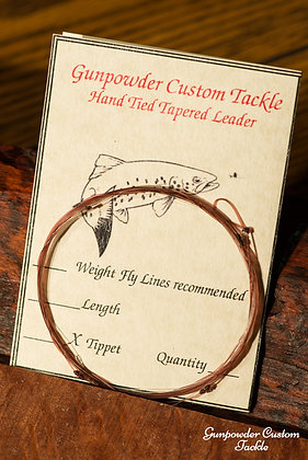Hand Tied Tapered Leader for 4-6 wt Lines  3 Pack