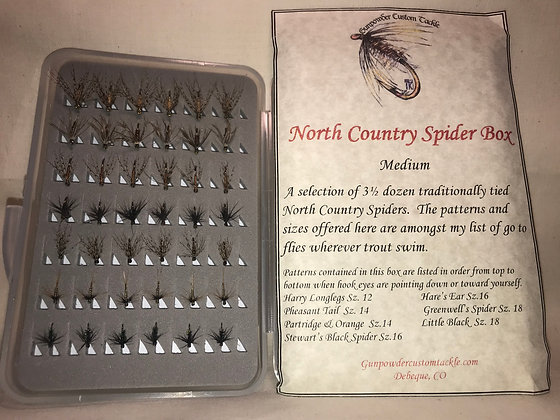 Medium North Country Spider Fly Box