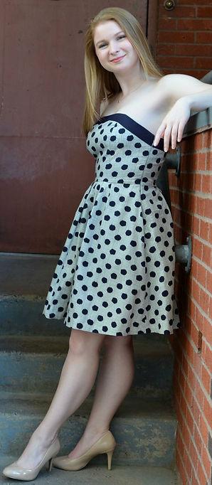 Kate McLellan on the steps of Hartford Stage