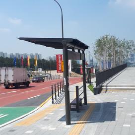 버스승강장 설치공사