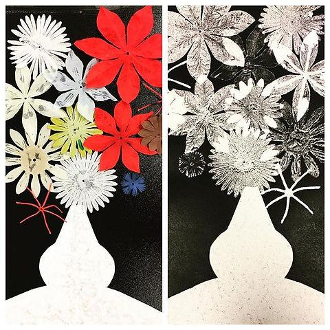 how to make a monoprint  #artteacher  #chicagoartist #artistsoninstagram #printmakersofinstagram #pr