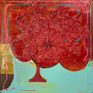 Plastic Flower Trophy 12x12 Acrylic on canvas 2021