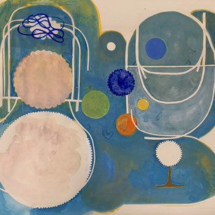 Graduated Spheres 50x70 guache on paper 2020