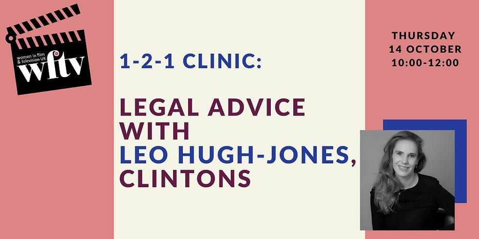1-2-1 Clinic: Legal Advice with Leo Hugh-Jones, Clintons