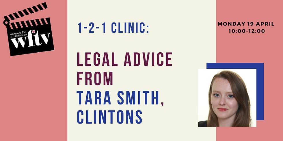 1-2-1 Clinic: Legal Advice with Tara Smith, Clintons