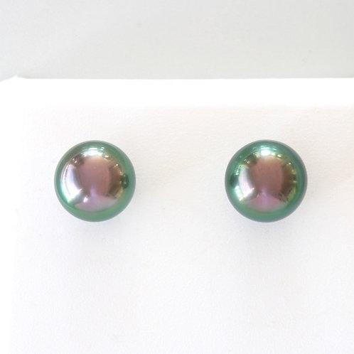 Boucles d'Oreilles Or 18k Perles 9,07 mm