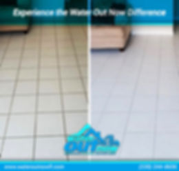 Before and after tile & grout cleaning images