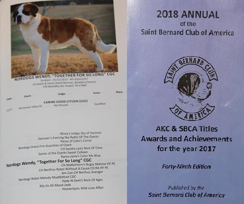 St Bernard breeder | Tennessee | Saint Bernard's of NorDogs