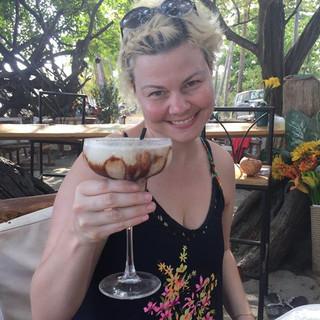 Tara ordered this amazing drink in Samara beach!