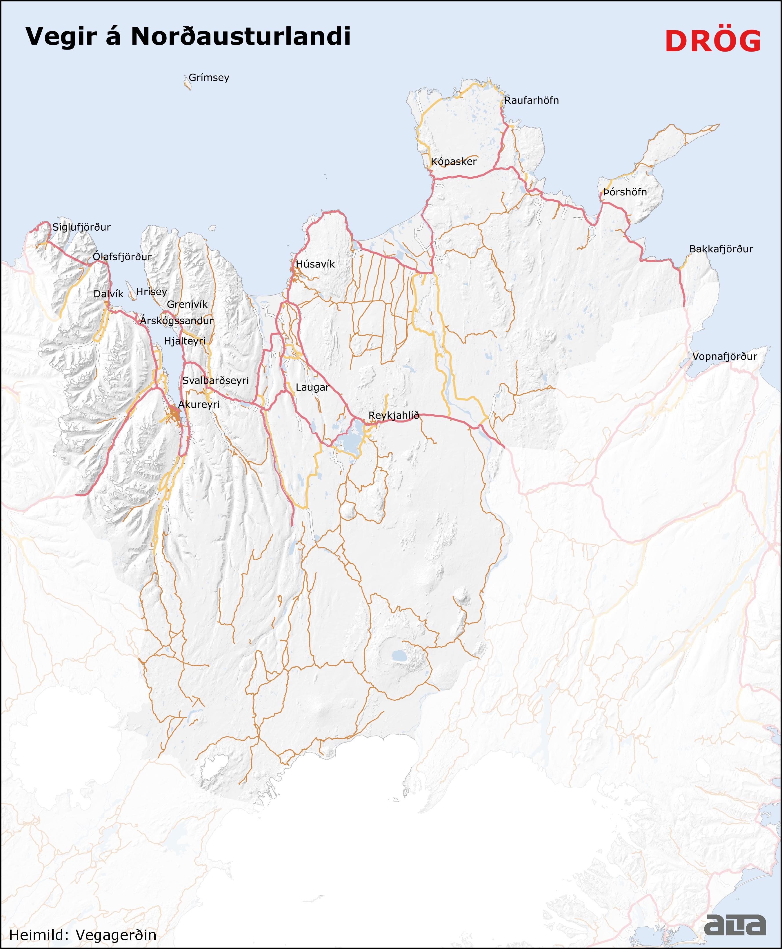 Vegakerfi á Norðausturlandi