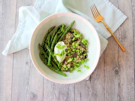 Groene quinoa voorjaarsbowl van Hanneke de Jonge, Culinea