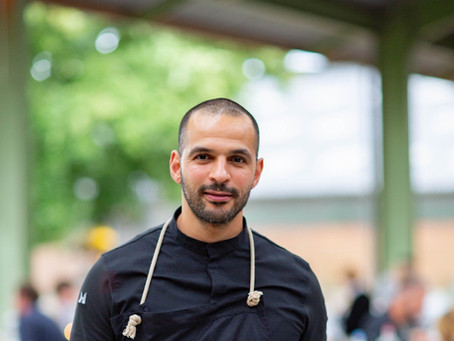 Salade van wortelpeterselie van Bilal Bouazza van restaurant Laymous, Lelystad