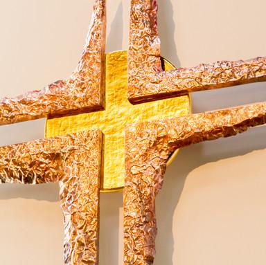 het centrum van het kruis