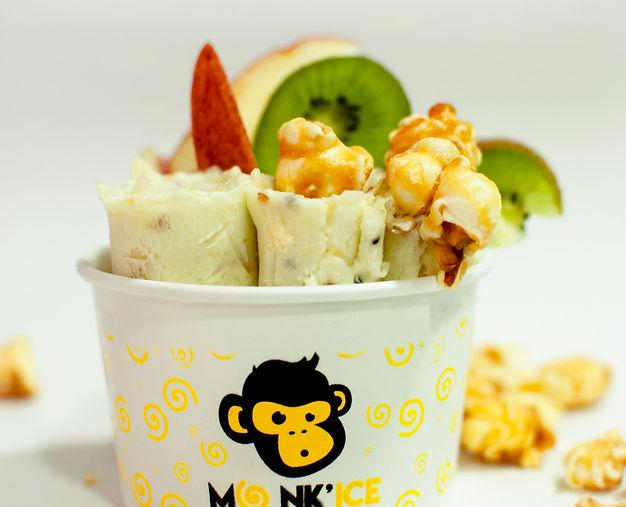 helado en rollo Monk ice