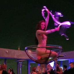🌴✨Cirque Mirage✨🌴 giant champagne glas