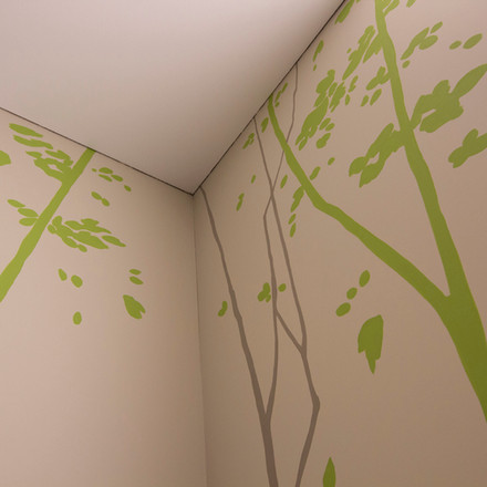 Bäume im Treppenhaus