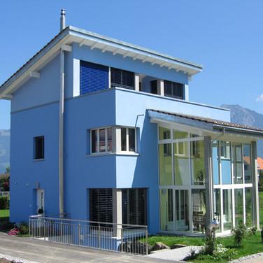 Haus mit Pultdach, Grabs