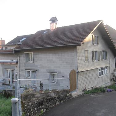 Fassade mit Eternit