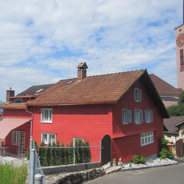 gestrichene Eternitfassade