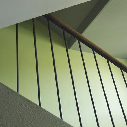 Frisches Grün für ein Treppenhaus