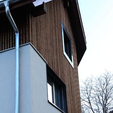Attraktive Holzfassade