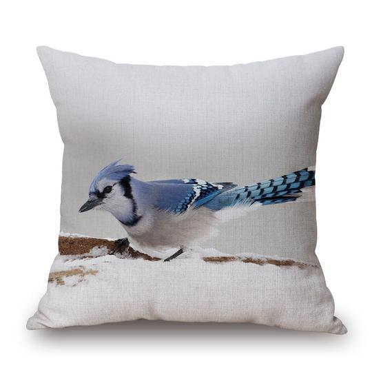 Bluejay Cushion With Filler (DT)
