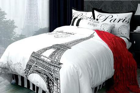 For the romantic in you, a beautiful cotton Duvet cover and sham.    This wonder