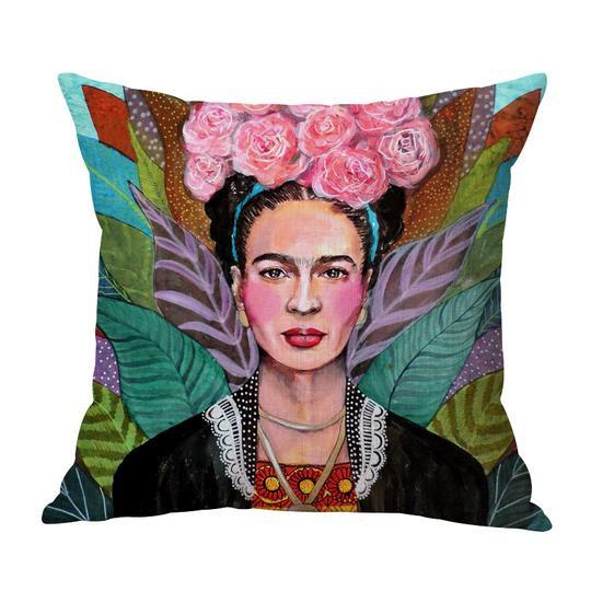 Frida Roses Cushion With Filler (DT)