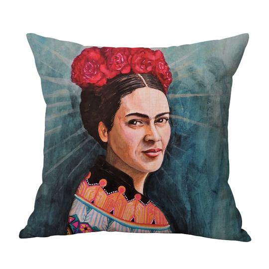 Frida Rust Roses Cushion With Filler (DT)