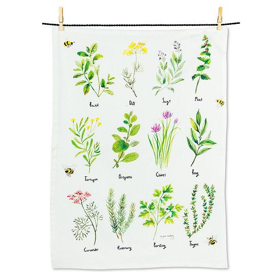 12 Herbs Tea Towel (AB)
