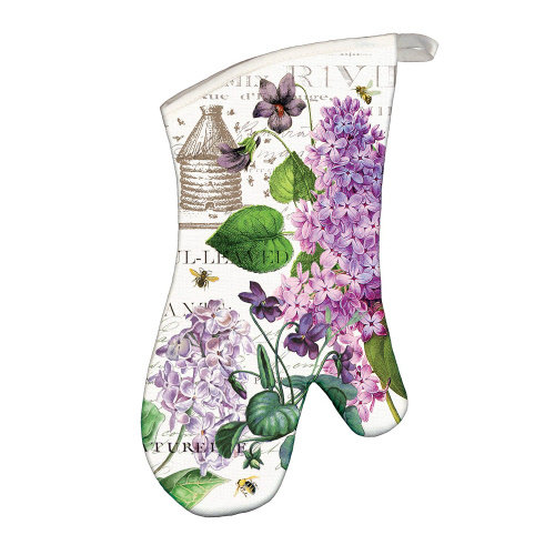 Lilac and Violets Oven Mitt