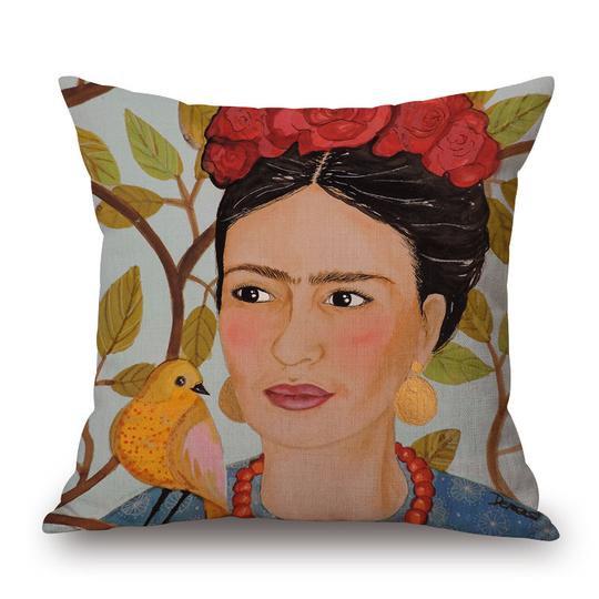 Frida Orange Cushion With Filler (DT)