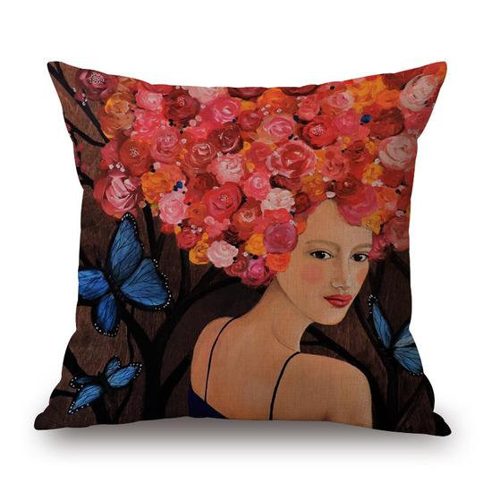 Frida Rusty Rose Head Cushion With Filler (DT)