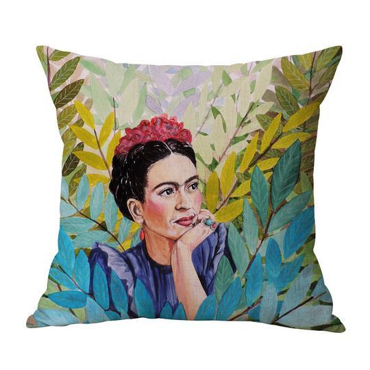 Frida Green/Blue Cushion With Filler (DT)