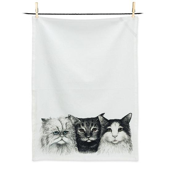 3 Cats Tea Towel (AB)